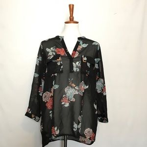 Tops - Floral shell blouse